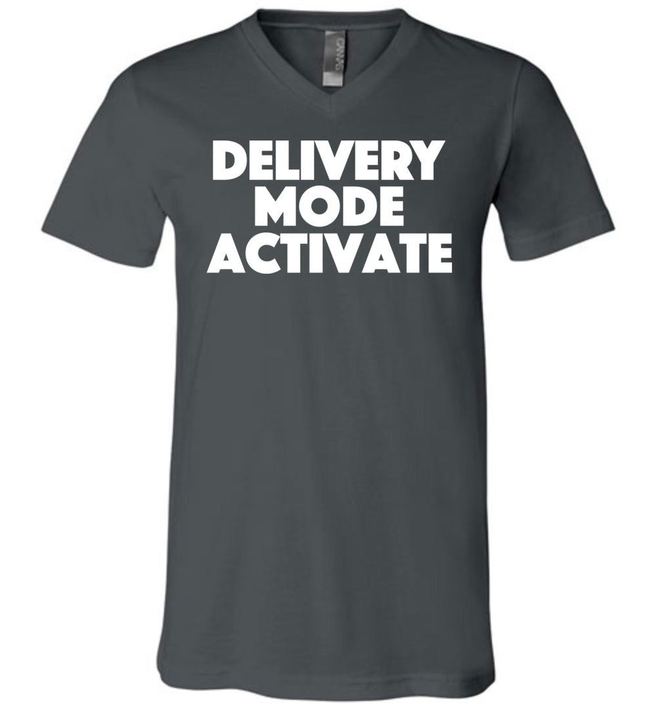 Postal Worker Tees Men's V-Neck Asphalt / S Delivery Mode activate Men's V-Neck Tshirt
