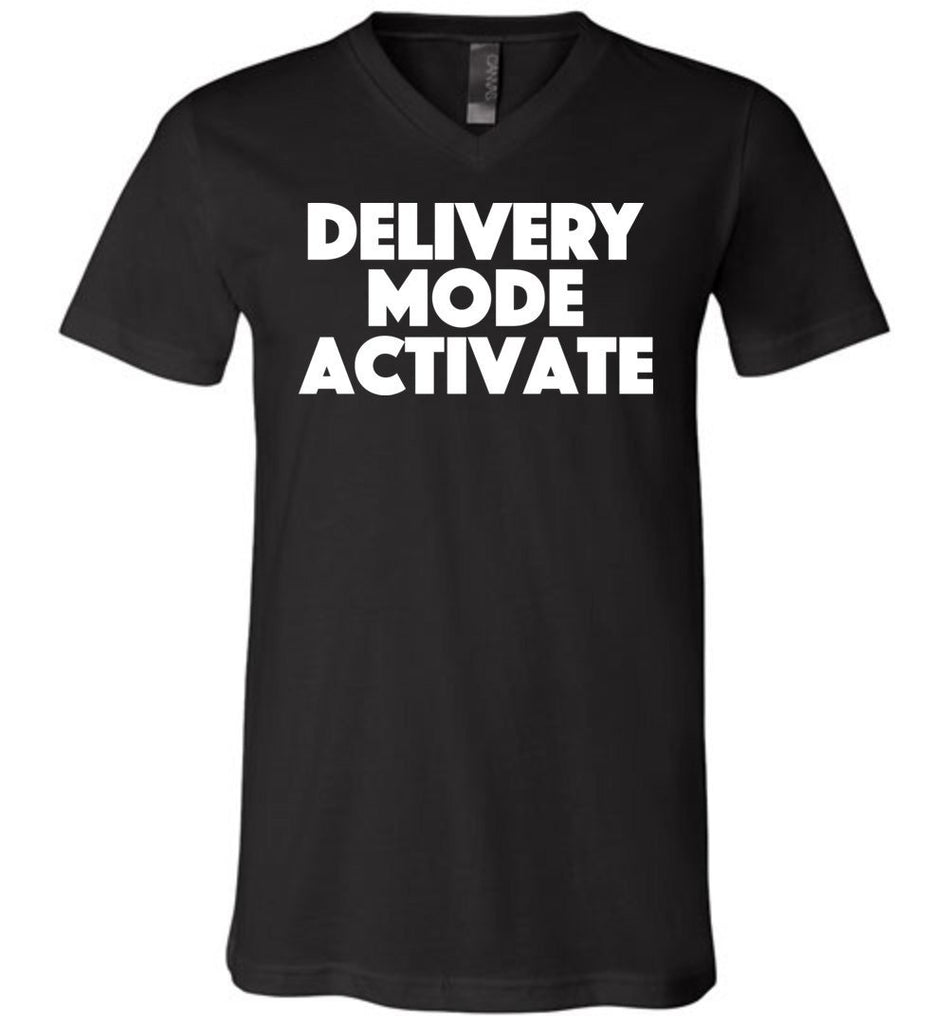 Postal Worker Tees Men's V-Neck Black / S Delivery Mode activate Men's V-Neck Tshirt