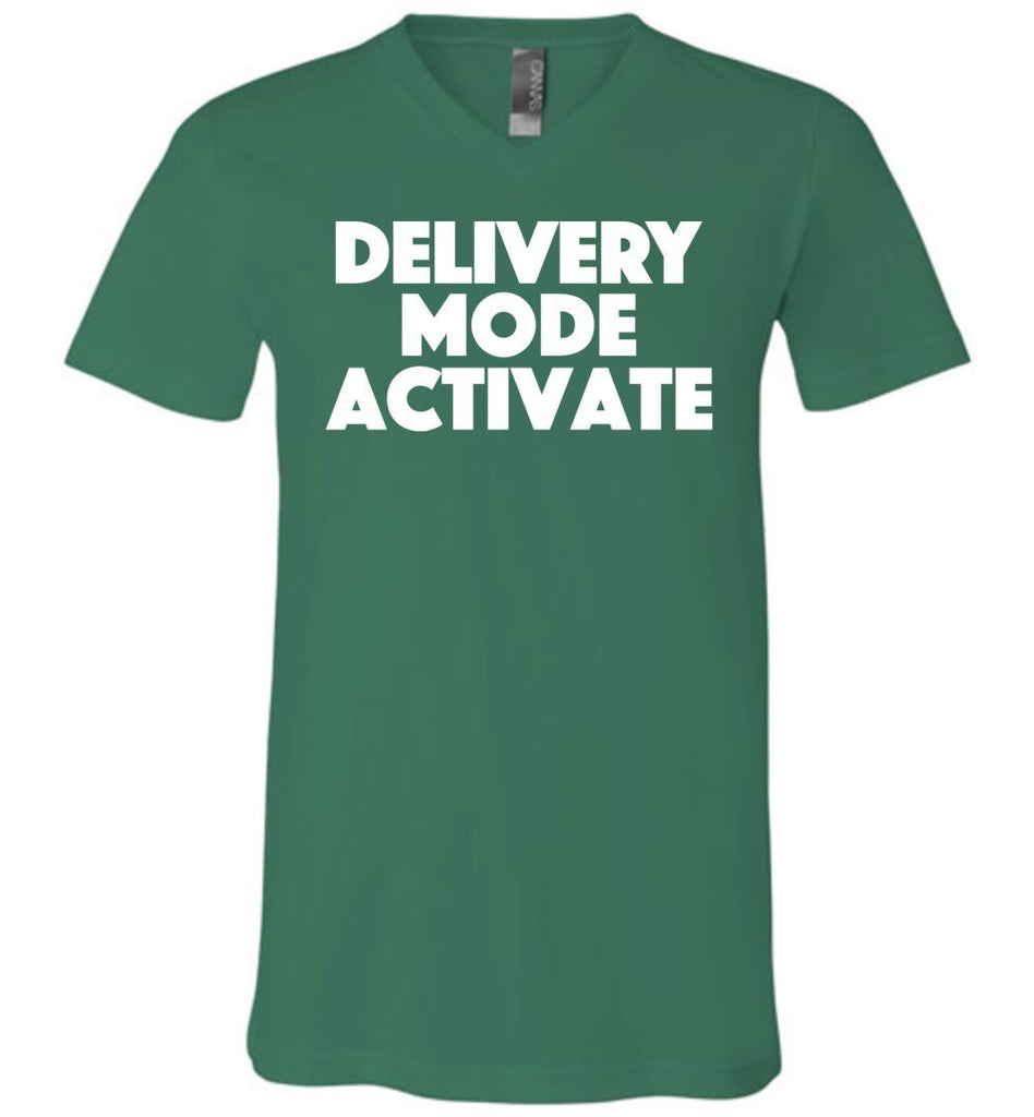 Postal Worker Tees Men's V-Neck Kelly / S Delivery Mode activate Men's V-Neck Tshirt