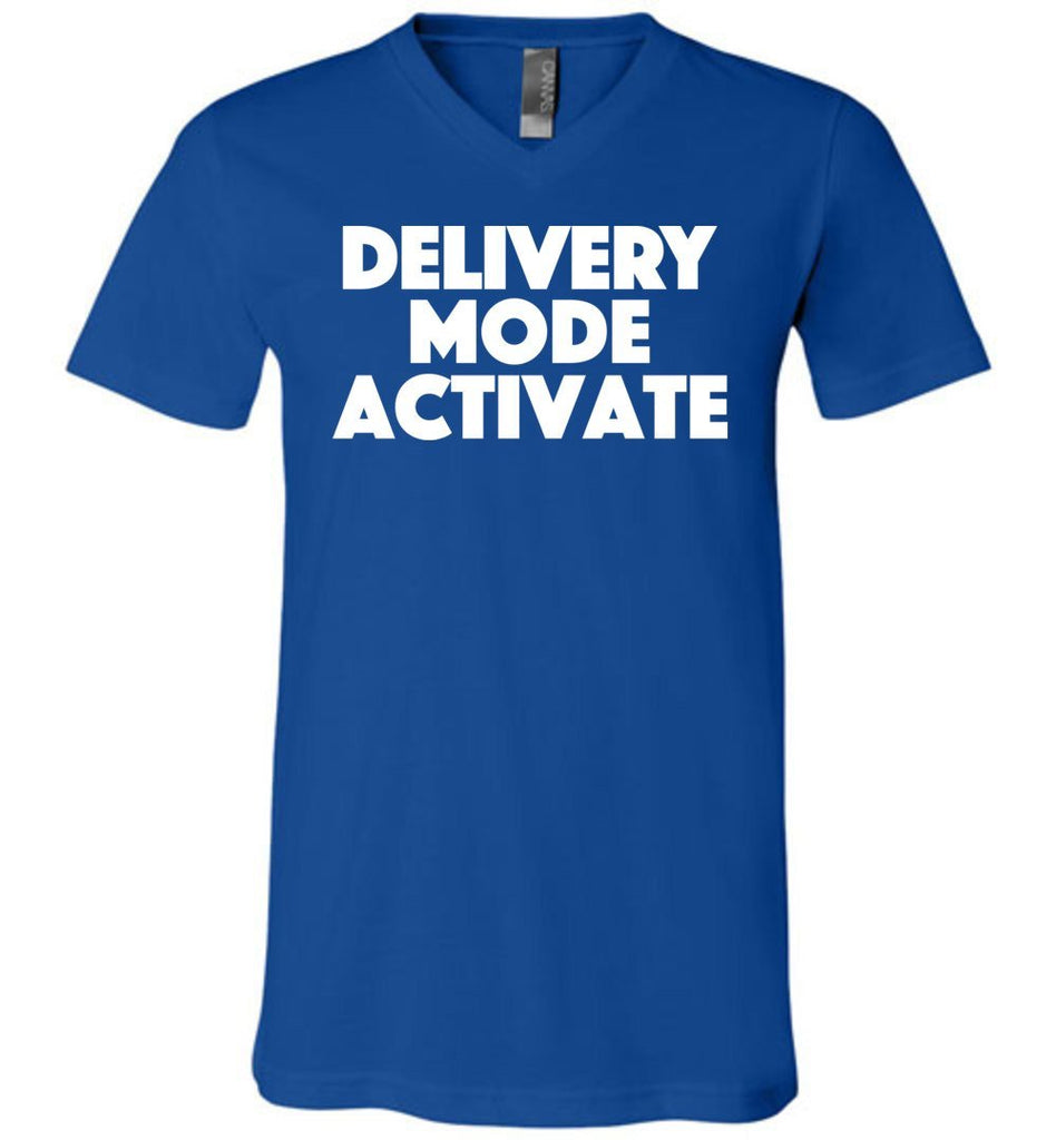 Postal Worker Tees Men's V-Neck True Royal / S Delivery Mode activate Men's V-Neck Tshirt