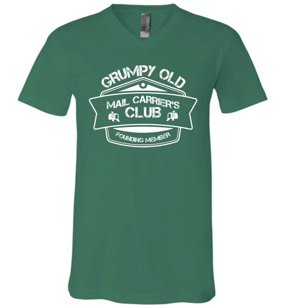 Postal Worker Tees Men's V-Neck Kelly / S Grumpy old mail carriers club Men's V-Neck Tshirt