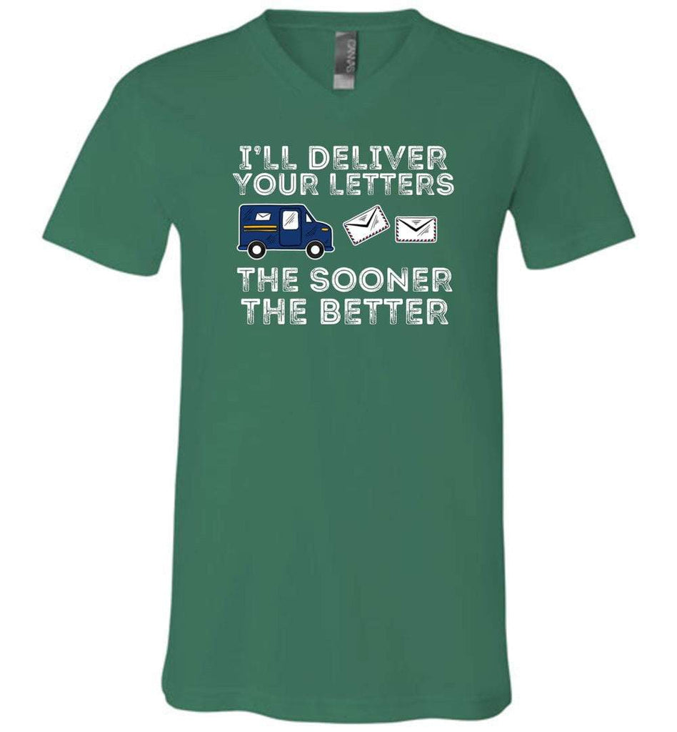 Postal Worker Tees Men's V-Neck Kelly / S I'll deliver your letters the sooner the better Men's V-Neck Tshirt