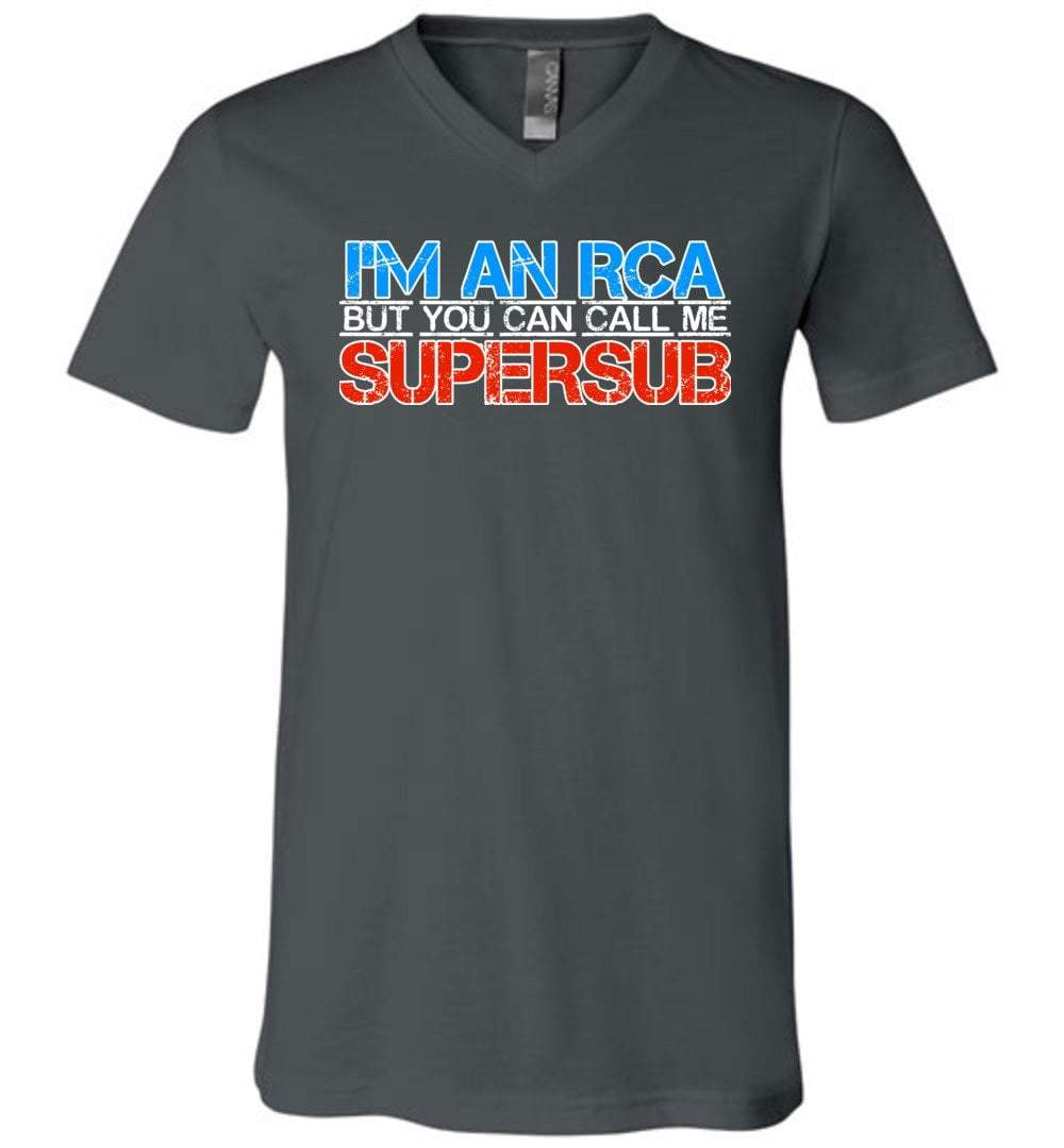 Postal Worker Tees Men's V-Neck Asphalt / S I'm an RCA but you can call me supersub Men's V-Neck Tshirt
