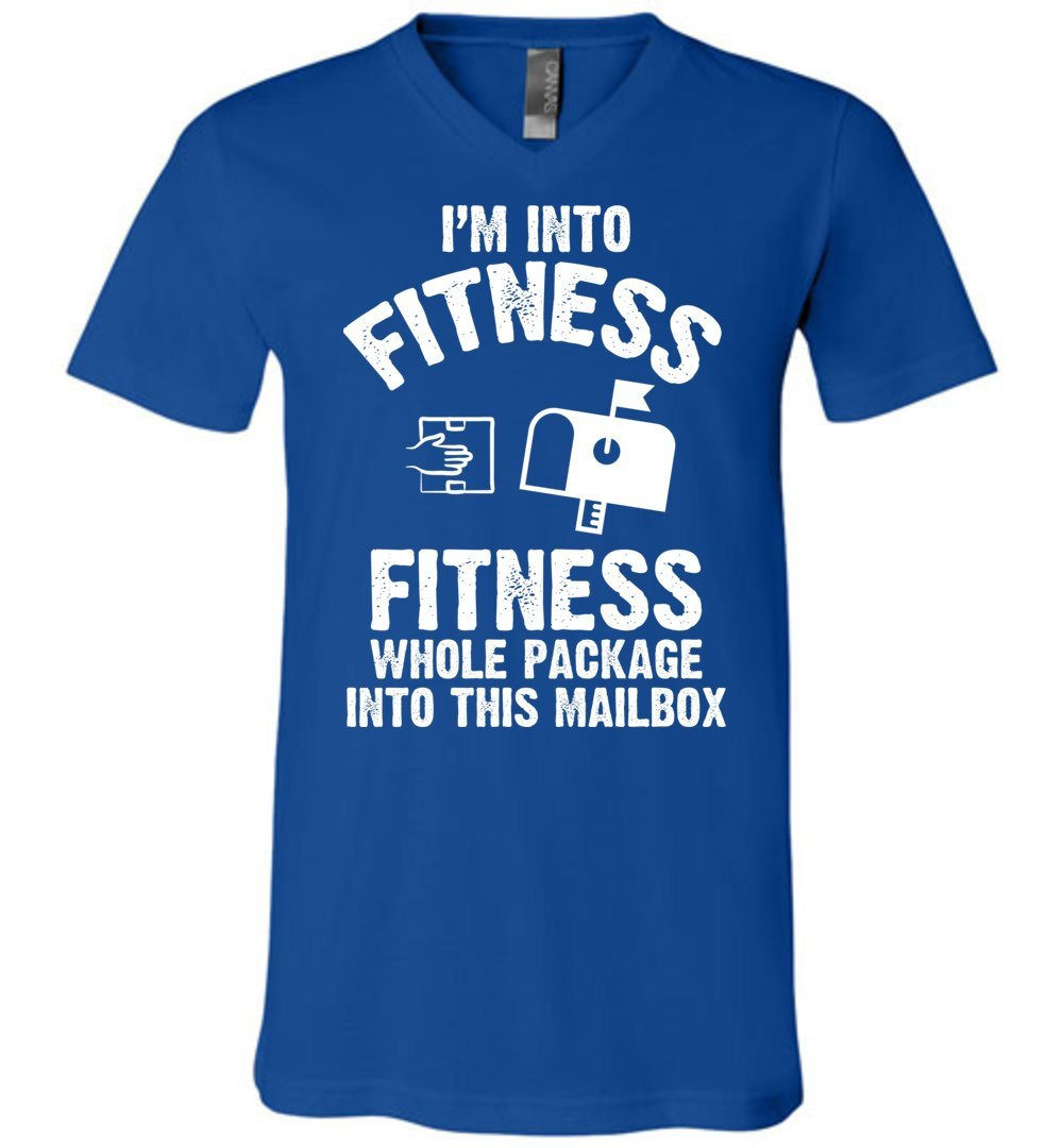 Postal Worker Tees Men's V-Neck True Royal / S I'm into fitness Men's V-Neck Tshirt