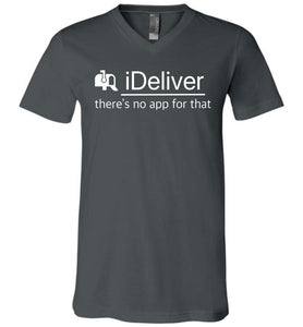 Postal Worker Tees Men's V-Neck Asphalt / S iDeliver - No app for that Men's V-Neck Tshirt