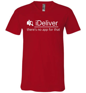 Postal Worker Tees Men's V-Neck Red / S iDeliver - No app for that Men's V-Neck Tshirt
