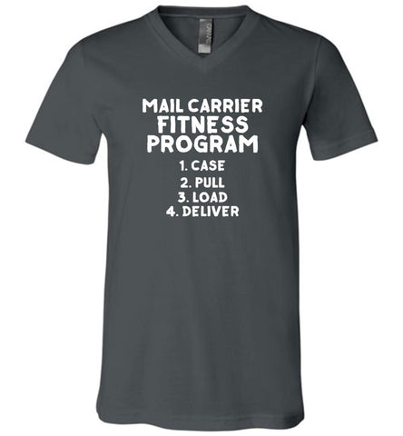 Mail Carrier Fitness program Men's V-Neck Tshirt