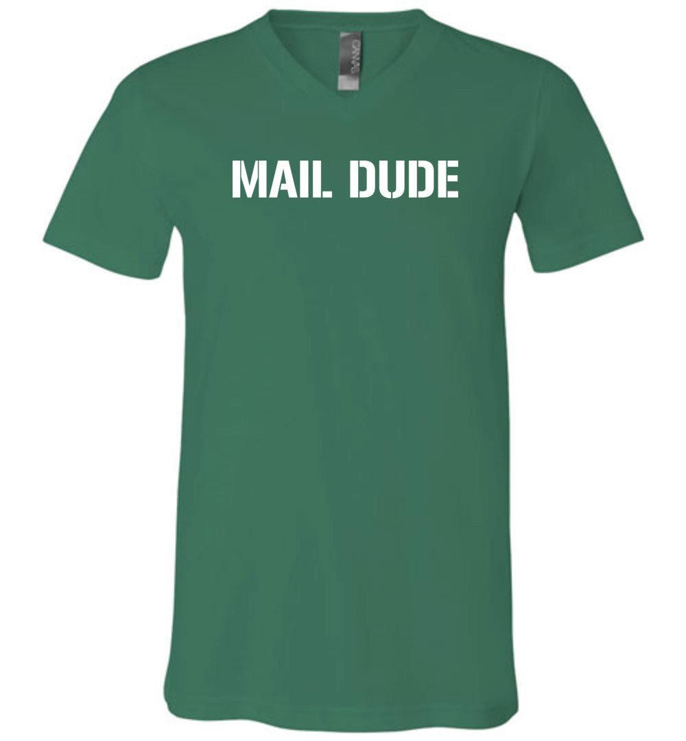 Postal Worker Tees Men's V-Neck Kelly / S Mail Dude Men's V-Neck Tshirt