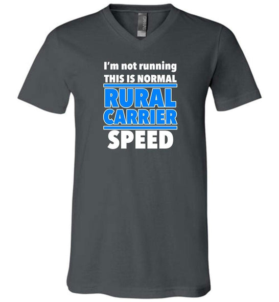 Postal Worker Tees Men's V-Neck Asphalt / S Normal rural carrier speed Men's V-Neck Tshirt