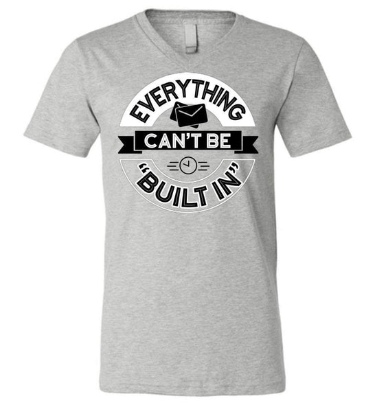 Postal Worker Tees Men's V-Neck Athletic Heather / S Rural Carrier Everything can't be built in Men's V-Neck Tshirt