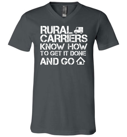 Rural Carriers Get the route done Men's V-Neck Tshirt