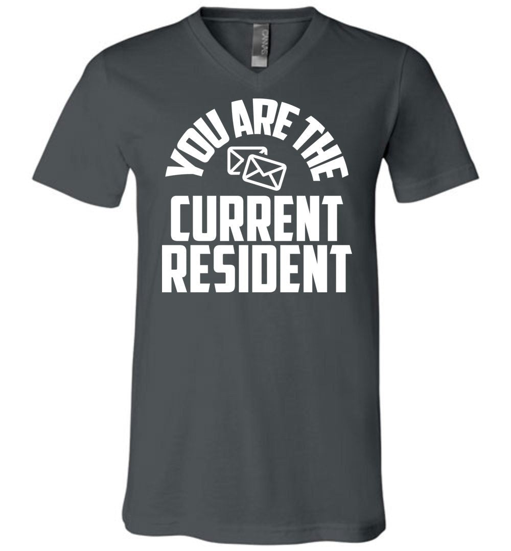 Postal Worker Tees Men's V-Neck Asphalt / S You are the current resident Men's V-Neck Tshirt