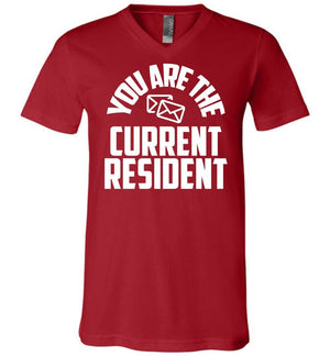 Postal Worker Tees Men's V-Neck Canvas Red / S You are the current resident Men's V-Neck Tshirt