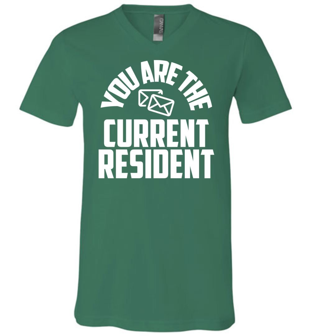 Postal Worker Tees Men's V-Neck Kelly / S You are the current resident Men's V-Neck Tshirt