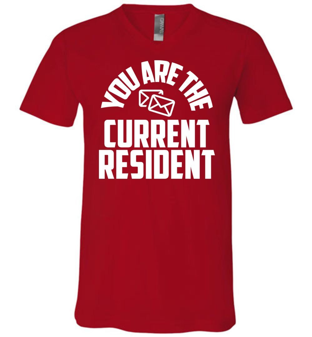 Postal Worker Tees Men's V-Neck Red / S You are the current resident Men's V-Neck Tshirt