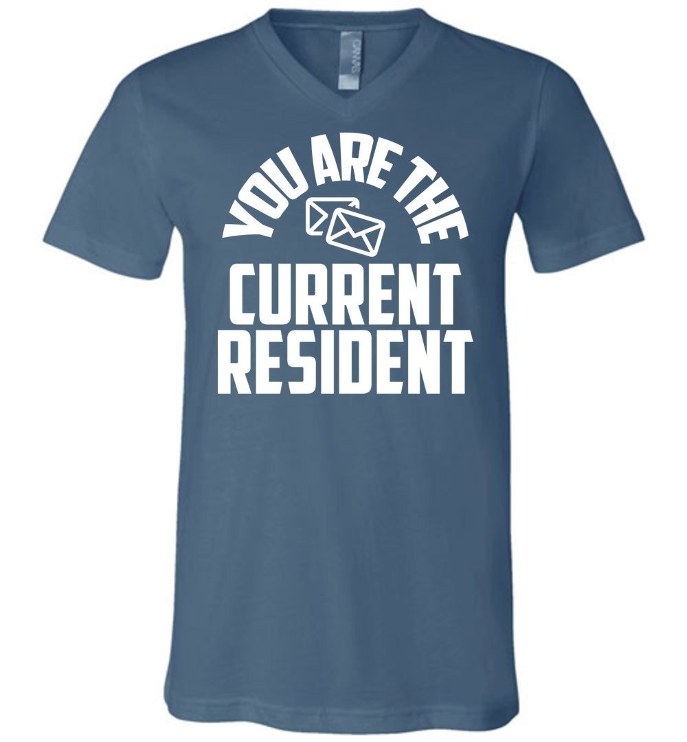 Postal Worker Tees Men's V-Neck Steel Blue / S You are the current resident Men's V-Neck Tshirt