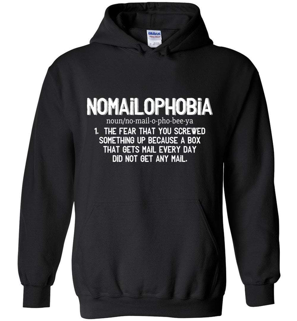 Postal Worker Tees Black / S Nomailophobia mail carrier Hoodie