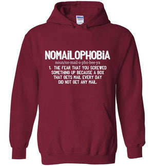 Postal Worker Tees Cardinal Red / S Nomailophobia mail carrier Hoodie