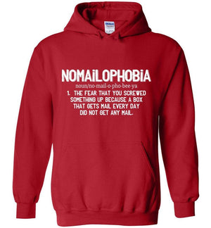 Postal Worker Tees Red / S Nomailophobia mail carrier Hoodie