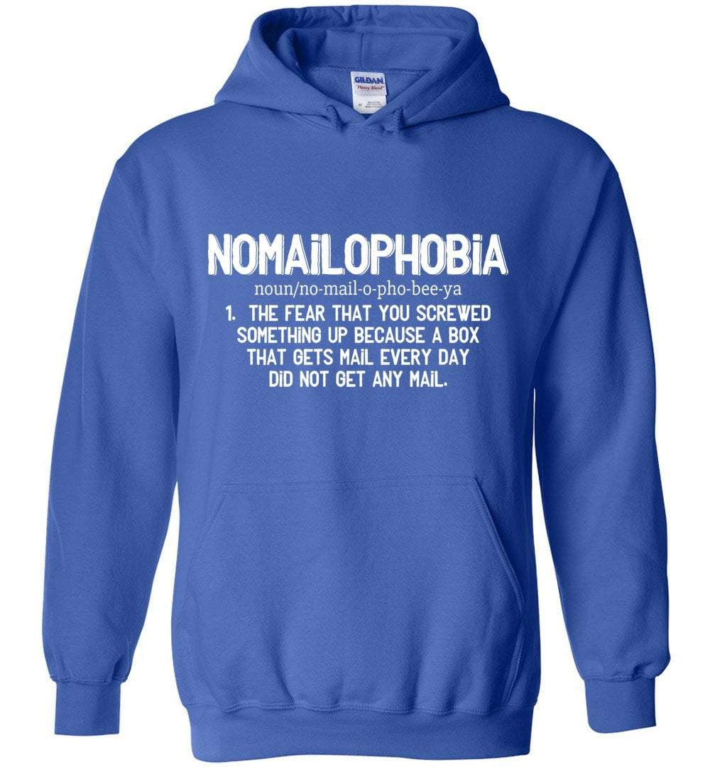 Postal Worker Tees Royal Blue / S Nomailophobia mail carrier Hoodie