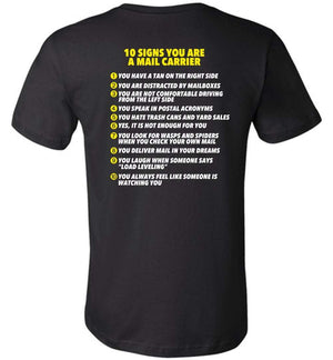 Postal Worker Tees Unisex Tshirt Black / S 10 signs you might be a mail carrier - Back design Tshirt