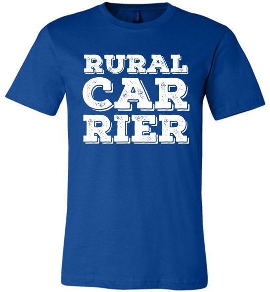 Postal Worker Tees Unisex Tshirt True Royal / S Big letter Rural Carrier Tshirt