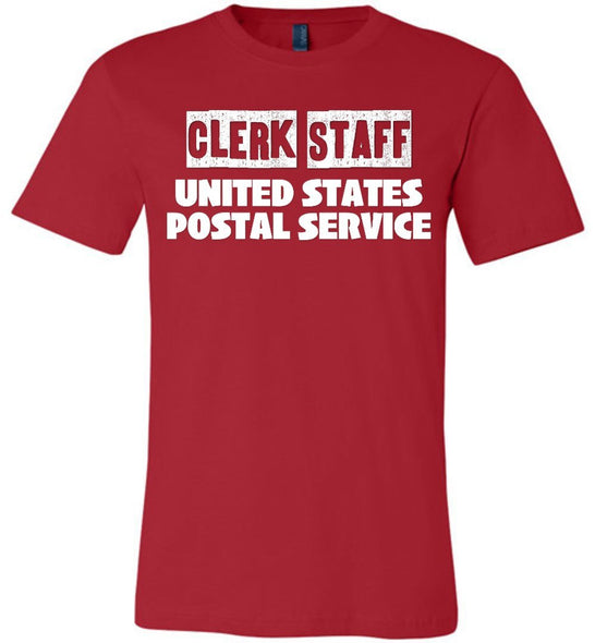 Postal Worker Tees Unisex Tshirt Red / S Clerk Staff Tshirt