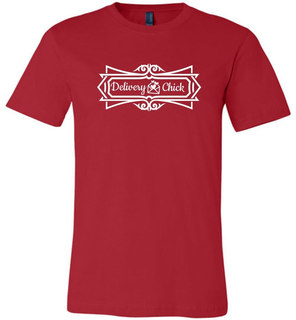 Postal Worker Tees Unisex Tshirt Red / S Delivery Chick Decorative Tshirt