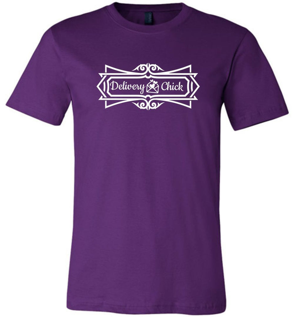 Postal Worker Tees Unisex Tshirt Team Purple / S Delivery Chick Decorative Tshirt