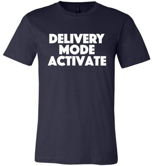 Postal Worker Tees Unisex Tshirt Navy / S Delivery Mode activate Tshirt