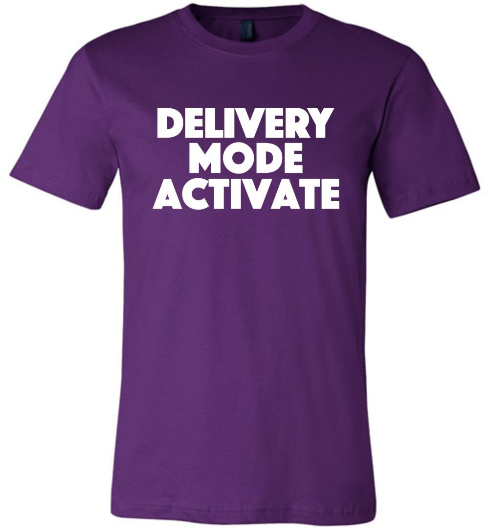 Postal Worker Tees Unisex Tshirt Team Purple / S Delivery Mode activate Tshirt