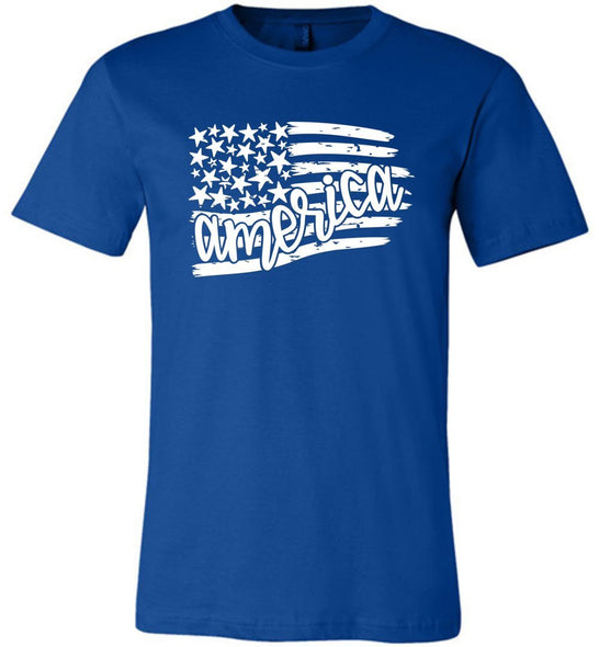 Postal Worker Tees Unisex Tshirt True Royal / S Flag America Tshirt