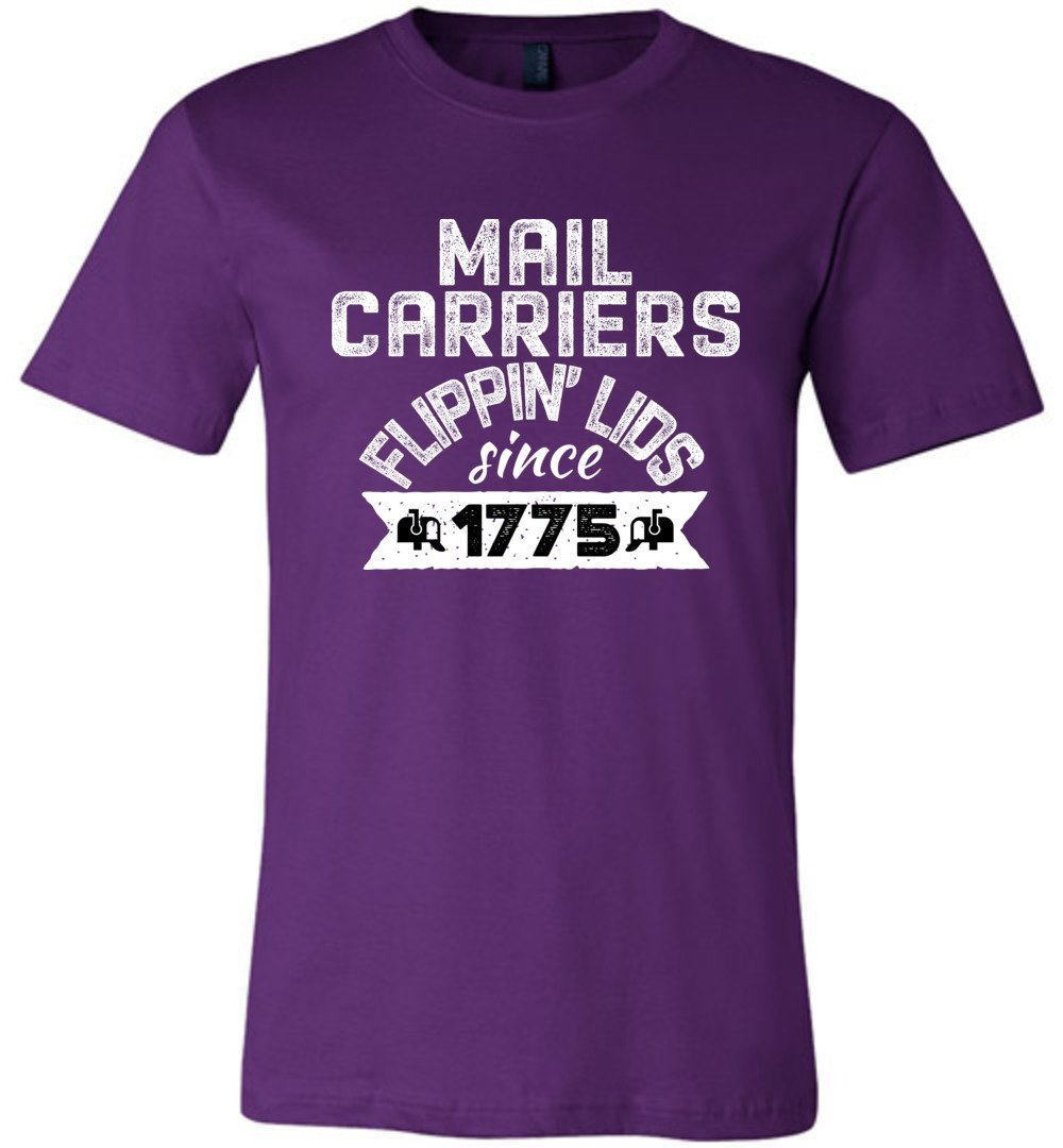 Postal Worker Tees Unisex Tshirt Team Purple / S Flippin' lids since 1775 Tshirt