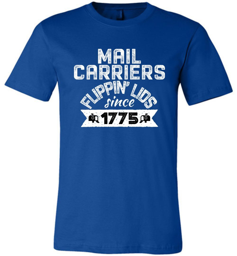Postal Worker Tees Unisex Tshirt True Royal / S Flippin' lids since 1775 Tshirt