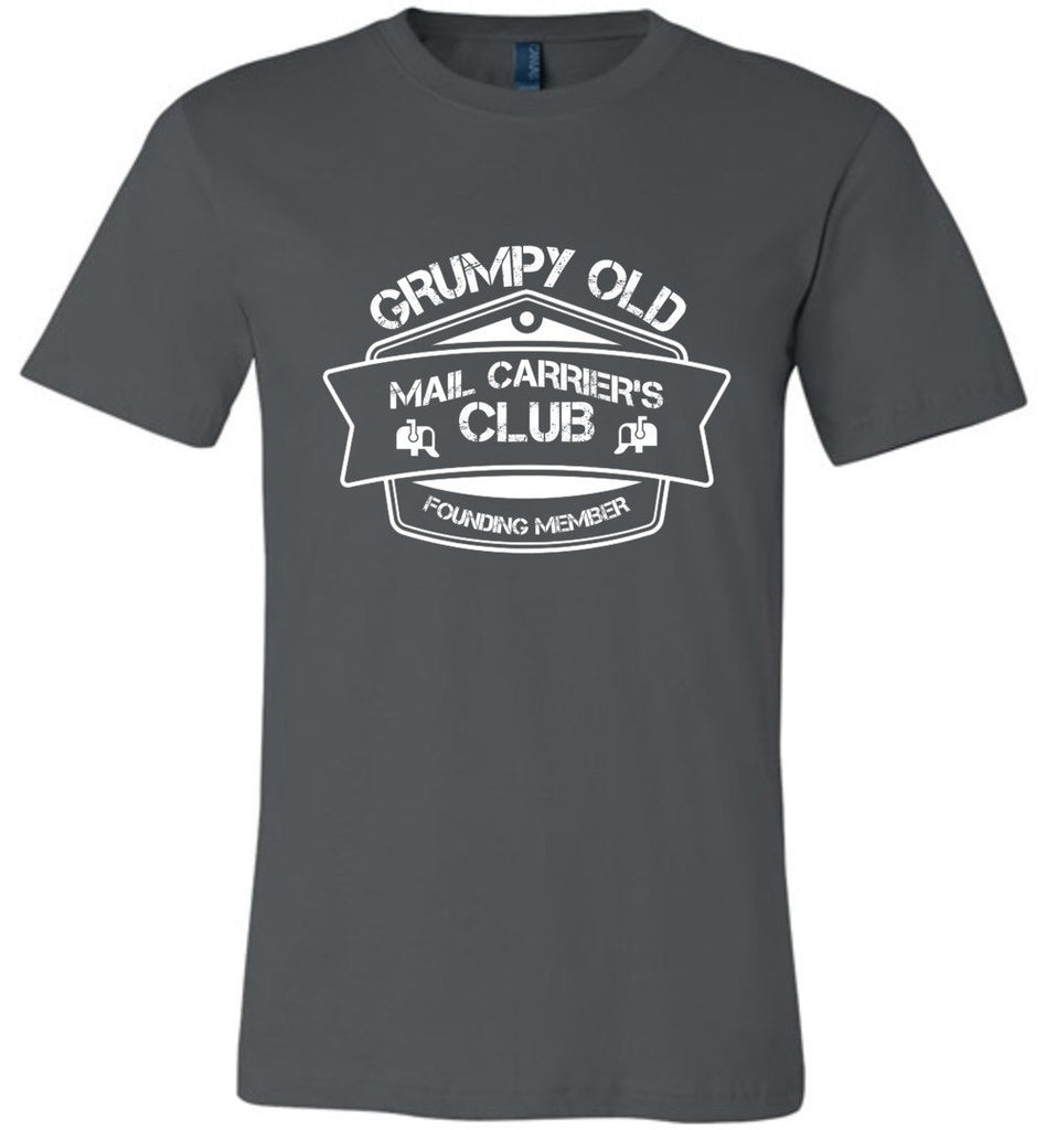 Postal Worker Tees Unisex Tshirt Asphalt / S Grumpy old mail carriers club Tshirt