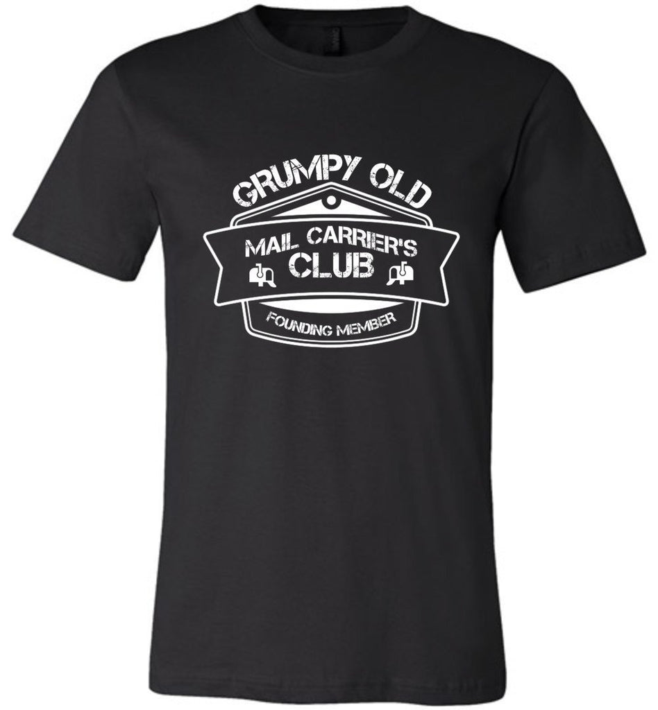 Postal Worker Tees Unisex Tshirt Black / S Grumpy old mail carriers club Tshirt