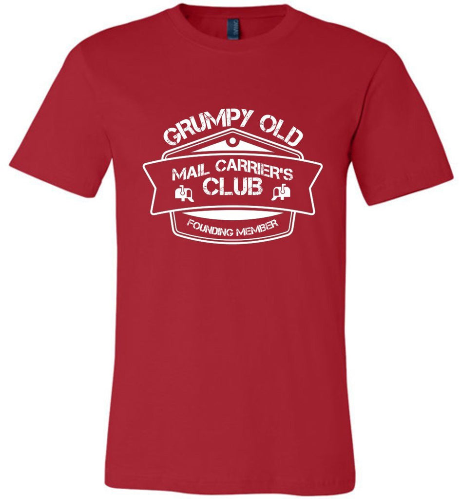 Postal Worker Tees Unisex Tshirt Red / S Grumpy old mail carriers club Tshirt