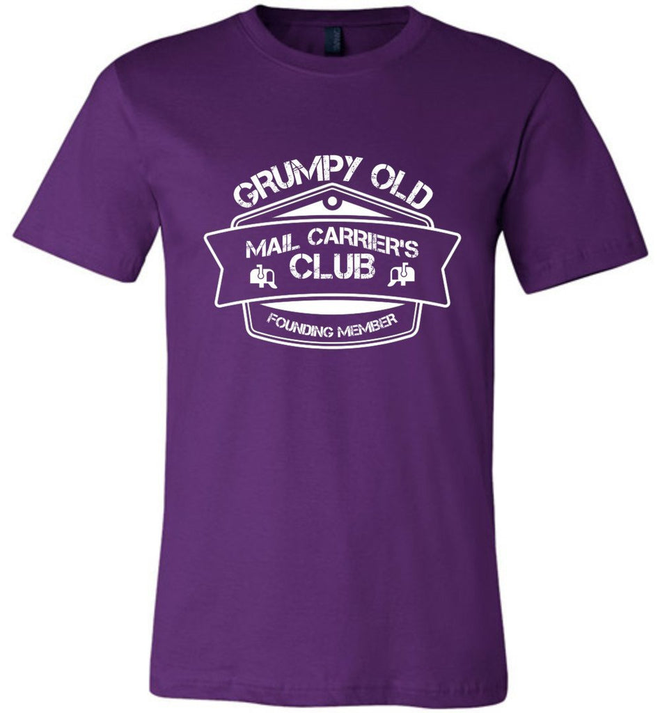 Postal Worker Tees Unisex Tshirt Team Purple / S Grumpy old mail carriers club Tshirt