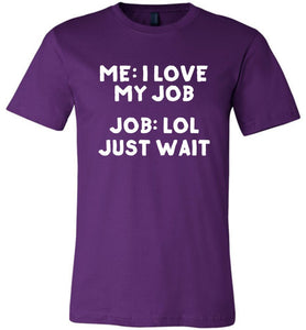 Postal Worker Tees Unisex Tshirt Team Purple / S I love my job Tshirt