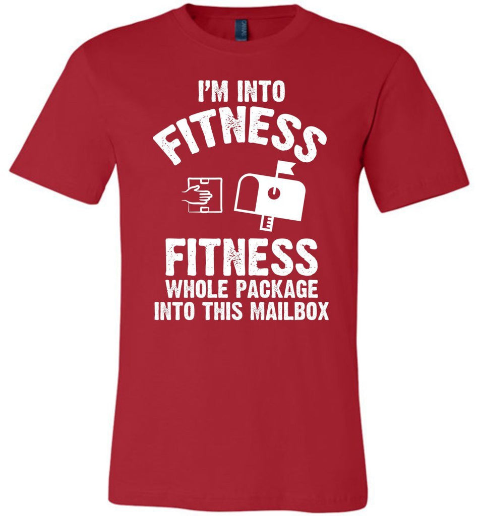 Postal Worker Tees Unisex Tshirt Red / S I'm into fitness Tshirt