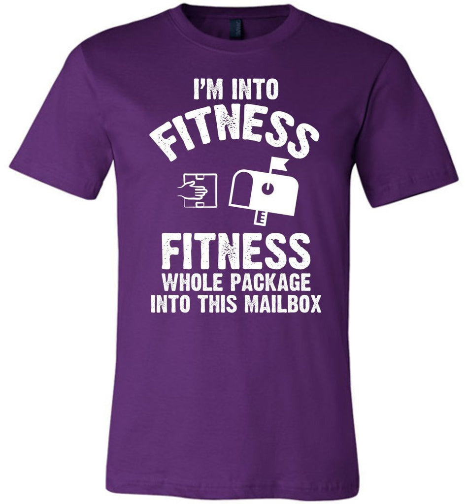 Postal Worker Tees Unisex Tshirt Team Purple / S I'm into fitness Tshirt
