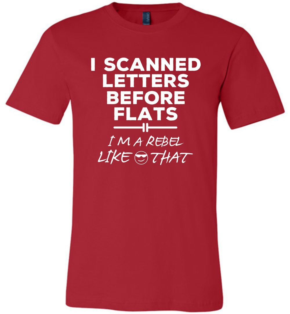 Postal Worker Tees Unisex Tshirt Red / S I scanned letters before flats Tshirt