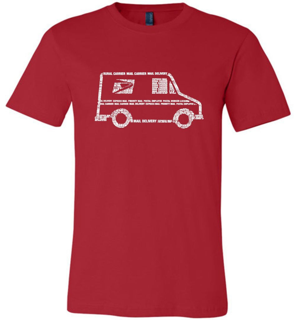 Postal Worker Tees Unisex Tshirt Red / S LLV Postal Phrases Word Art Tshirt