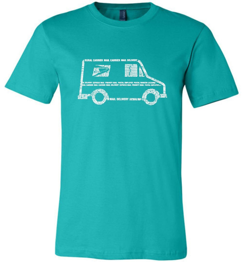 Postal Worker Tees Unisex Tshirt Teal / S LLV Postal Phrases Word Art Tshirt