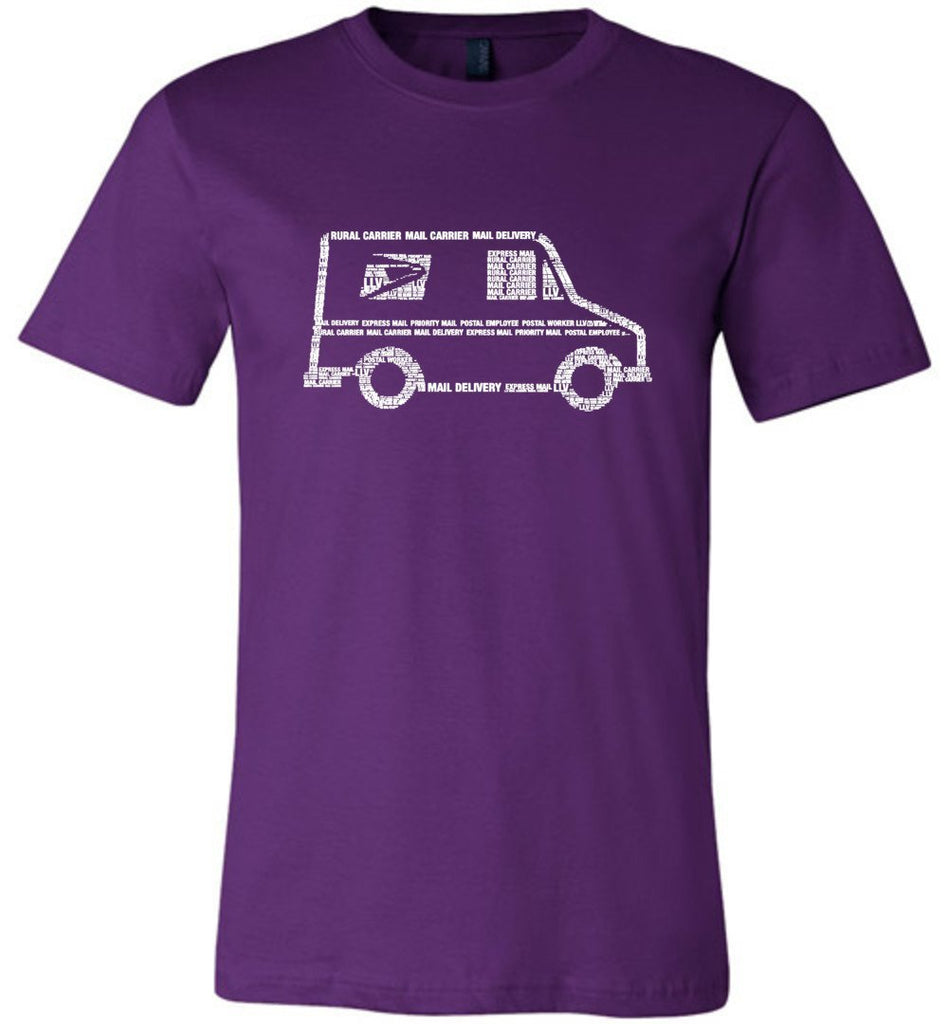 Postal Worker Tees Unisex Tshirt Team Purple / S LLV Postal Phrases Word Art Tshirt