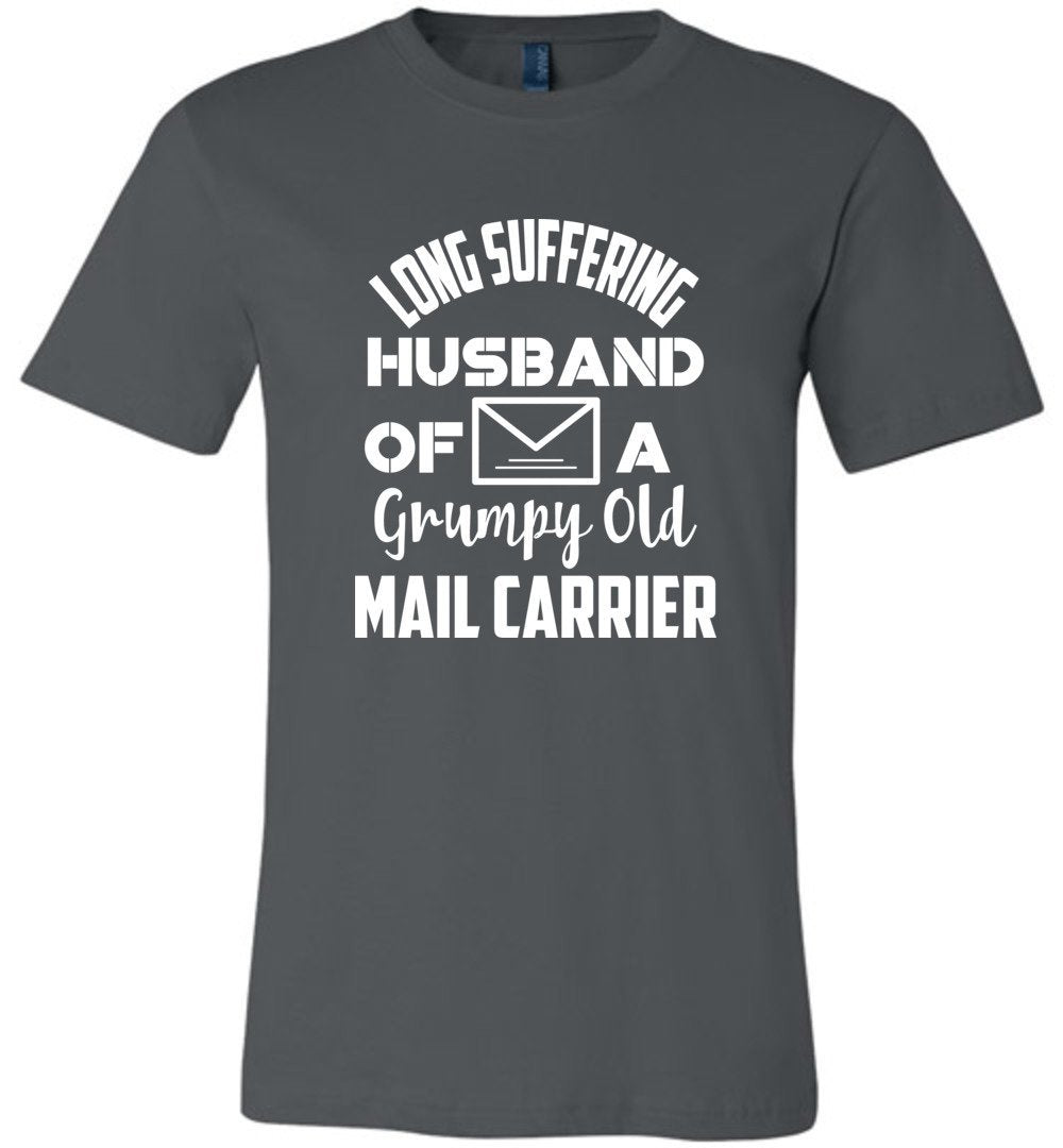 Postal Worker Tees Unisex Tshirt Asphalt / S Long suffering husband  Tshirt