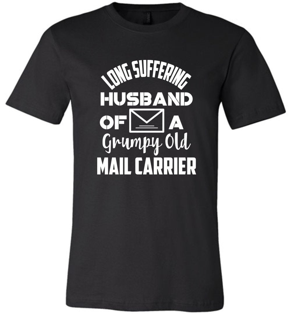 Postal Worker Tees Unisex Tshirt Black / S Long suffering husband  Tshirt