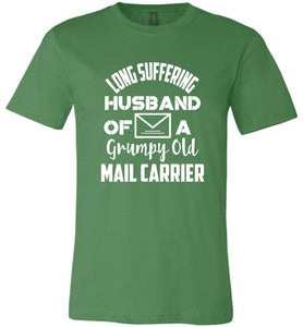 Postal Worker Tees Unisex Tshirt Leaf / S Long suffering husband  Tshirt