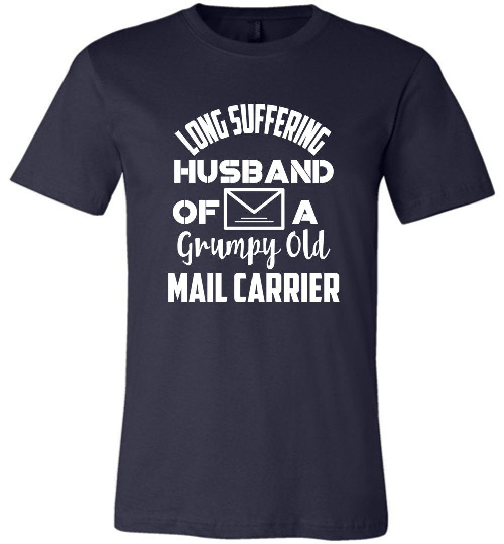 Postal Worker Tees Unisex Tshirt Navy / S Long suffering husband  Tshirt