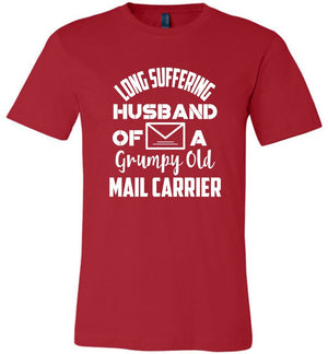 Postal Worker Tees Unisex Tshirt Red / S Long suffering husband  Tshirt